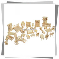 Home decoration, DIY 3D wooden puzzle FURNITURE model