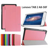Hot selling product For Lenovo Tab 2 A8 Top Sale Flip Stand PU Leather Protective Case Cover