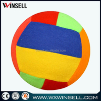 Rainbow Volleyball With Plush Soft Cloth Surface