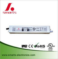 waterproof IP67 outdoor close frame led emergency driver 30w constant voltage 24v 12v led driver AC~DC