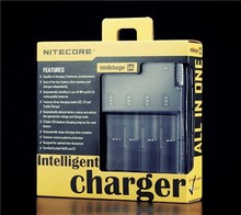 NiteCore d4 charger Intellicharger I2/I4/D4 Battery Charger Li-ion /Ni-MH LiFePO4 portable dual usb car charger