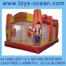 inflatable saloon shooter game /inflatable tent for shooting /inflatable shooting game for kids