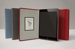 hardcover hinge book style leather case for ipad mini