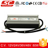 KV-12080-TD triac dimmable constant voltage 80w 12v led power driver