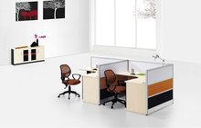 2012 hot selling l-shaped office partition for 2 people