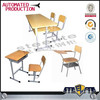 Metal frame wooden table and chair / assemble study table with bench