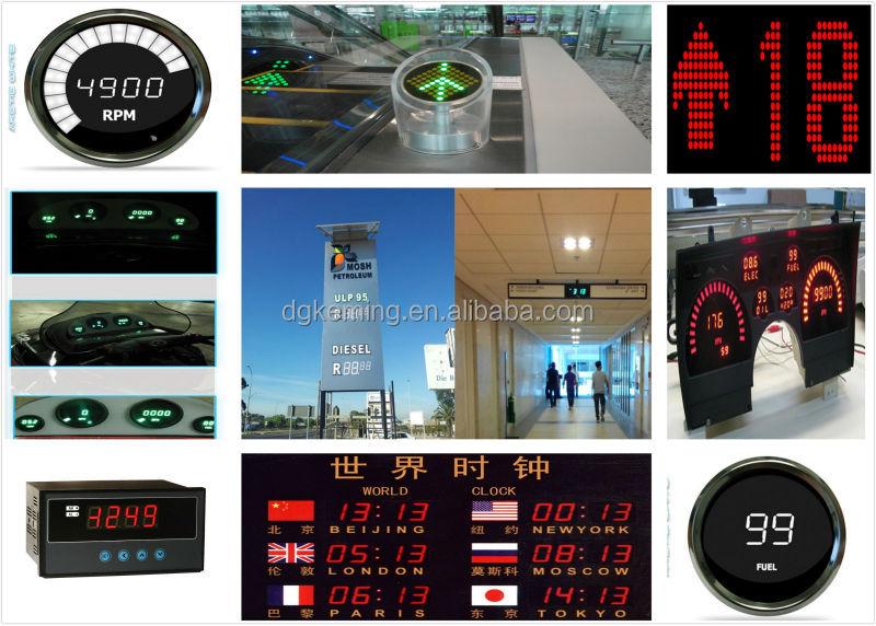 Large 7segment led display Semi-outdoor bright 6 inch big 7 segment display led