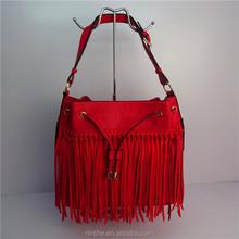 2016 Popular Crazy Selling Wholesale Bucket Drawstring Bag Tassel Popular bag in alibaba