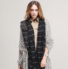 SWC393 124*240cm Double Dyed Large Size Long Stripe Top Cashmere Shawl
