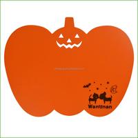 New design latest style colorful pumpkin shape chopping mat plastic PP Polypropylene fruit shaped cutting board