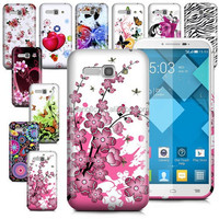 Fashion Printing Gel Skin Soft TPU Material Back Case Cover For Alcatel POP C9 7047A Mobile Phone Bag With Screen Protector