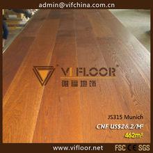 Dark colour brushed oak flooring best price