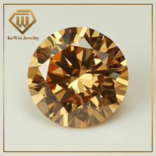 Circular zircon 8.0mm champagne color imitation diamond gems jewelry ornaments