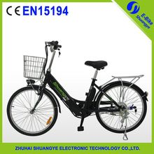 "Trendy design 24"" electric bicycle with inside battery"