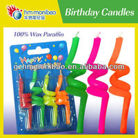 100% wax paraffin twisted birthday candles