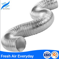 high quality semi-rigid aluminum auto flexible duct pipe air conditioning duct