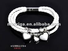 fashion jewelry,2012 latest genuine leather wrap bracelet