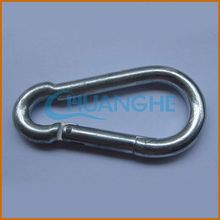made in china metal big size carabiner with lock aluminum