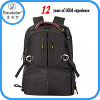 new design light cool black nylon waterproof camera backpack for photographic fan