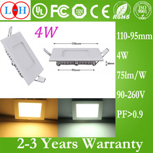 A Mass Of High Lumens 3W 4W 6W White Square LED Panel