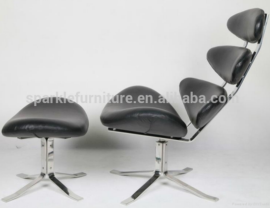 Wholesale modern replica corona chair genuine leather lounge chair living room chair furniture - Corona chair replica ...
