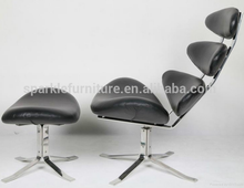 Moderno de la reproducción Corona silla cuero genuino salón silla sala de estar muebles