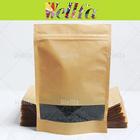 Papel Kraft Stand Up sacos com limpar janela pode ver comida dentro