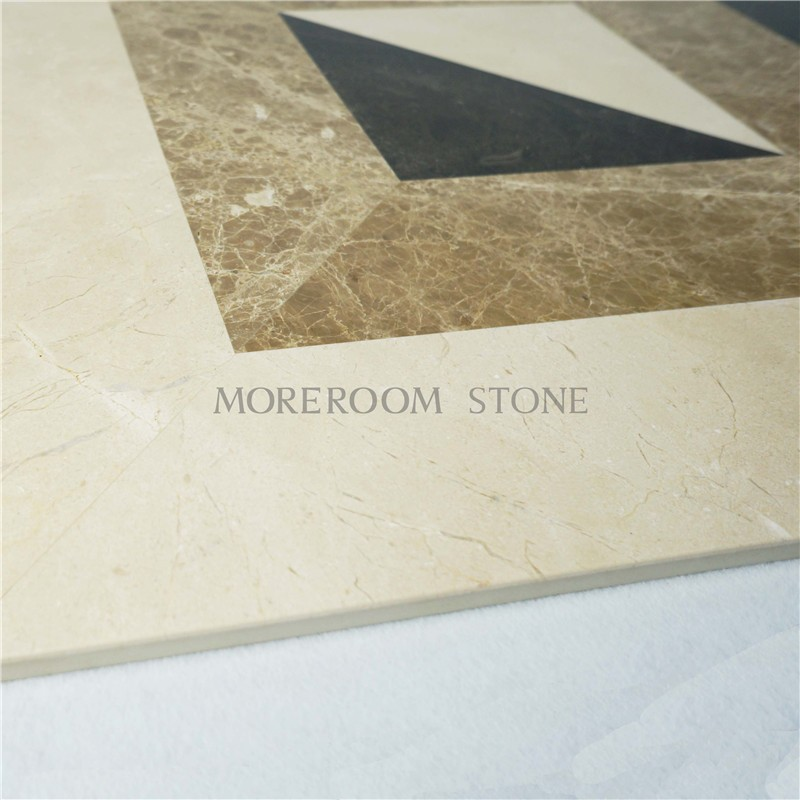 MPC0001-S06G Moreroom Stone Turkish Marble Light Emperador Marble Tiles Price Beige Marble Stone Water jet Medallion Marble Flooring Polished Medallion-7.jpg