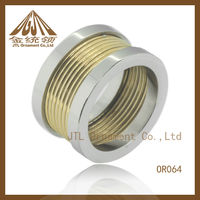 2012 fashion new style big diamond stainless steel rings
