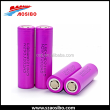 Directly selling high discharge LG 18650 25A/ lg hd2 3.6V 2000mah li ion battery cell / hd2 18650 battery