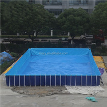 giant PVC swiming pool, pool with steel frame, squre pool