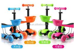 Best price kids balance pedal kick scooter 3 wheel