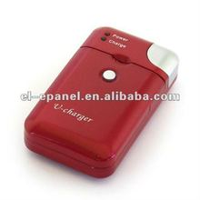 2012 Popular red universal battery charger including car charger and travel charger