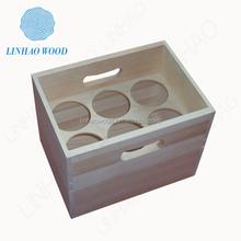 factory supply custom handmade wooden beer box/case/crate