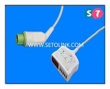 Fukuda Densi 12 Pin ECG / EKG Trunk Cables 5 Lead