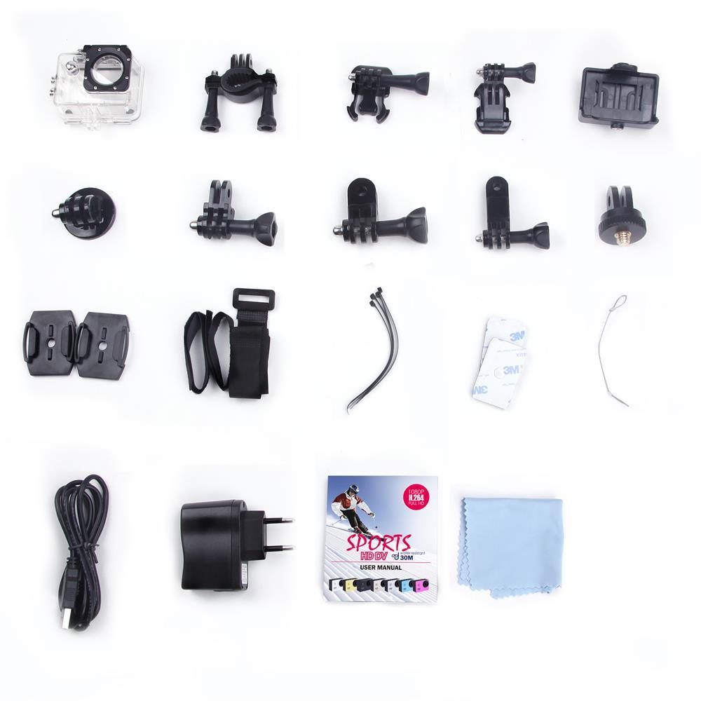 Action Camera Original SJ4000 Waterproof 30M HD DVR Gopro Sport DV Mini 1080P