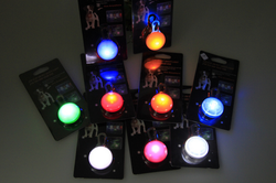 LED Pet Pendant Lighting 9 different Color Visible Safety Light for Pet