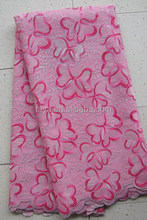 african french lace sequins decorate lace pink color organza lace