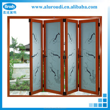 China aluminum alloy sliding folding doors,tempered glass door for house