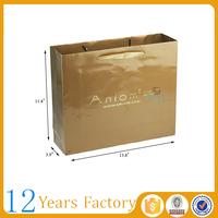 pantone color printed gold foil paper bags