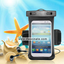 2015 with side widow mobile phone pouch for samsung N7100 with earphone