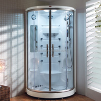 1 Person Tempered Glass Enclosed Corner Steam Shower Cubicle (DQ-F8003)