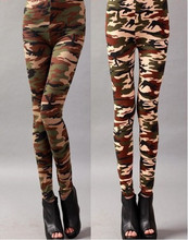 New 2015 Camouflage Army Green Women Fashion Leggings Pants Camouflage Jeans Pants