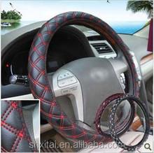 38CM Fashion 4 season-use leather Car Steering Wheel Covers