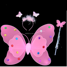 Wholesale fairy wings to decorate butterfly wings with headband Magic wand QFW-1029