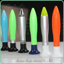 low MOQ Cheap Price New Plastic Table Pen, Rocket shaped Pen with Stand