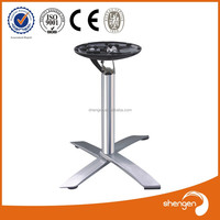 HD318 cast iron table base turned adjustable turned table legs uk