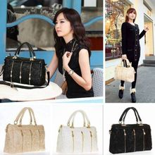 Fashion Korean Women Lace Handbag PU Leather Messenger Tote Shoulder Bag Satchel