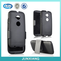 best selling cell phone cover for moto E2 with kickstand and belt clip