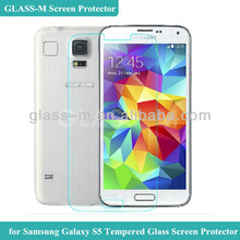 2014 New Product 0.2mm GLASS-M Mobile Phone Tempered Glass Screen Protector Ward For Samsung Galaxy S5